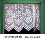 Lace Curtain With A Hearts ...