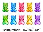 Colorful Gummy Bears Set....
