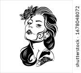 sexy woman with tattoos all...   Shutterstock .eps vector #1678048072