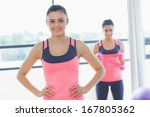 portrait of a smiling fit young ... | Shutterstock . vector #167805362