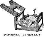 a machine invented by eli... | Shutterstock .eps vector #1678055275