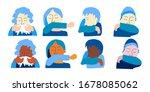 set of protective measures in... | Shutterstock .eps vector #1678085062