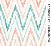 hand drawn pastel colored ikat... | Shutterstock .eps vector #1678088725