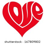 love word made in shape of a... | Shutterstock .eps vector #167809802