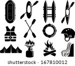 vector set of water rafting... | Shutterstock .eps vector #167810012