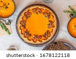 Pumpkin Pie Decorated With...