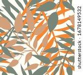 modern summer tropical leaves... | Shutterstock .eps vector #1678149532