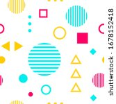 geometric seamless pattern in... | Shutterstock .eps vector #1678152418