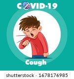 cough cartoon illustration...   Shutterstock .eps vector #1678176985