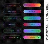 set of modern neon buttons for... | Shutterstock .eps vector #1678201888