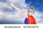 cute little child dressed as... | Shutterstock . vector #167821076