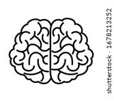 brain organ human isolated icon ...   Shutterstock .eps vector #1678213252