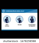 coronavirus 2019 ncov symptoms  ... | Shutterstock .eps vector #1678258588