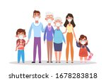 family wearing protective... | Shutterstock .eps vector #1678283818