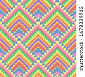 vector colorful ethnic seamless ... | Shutterstock .eps vector #1678339912