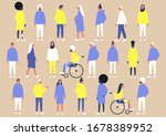 a collection of diverse... | Shutterstock .eps vector #1678389952