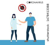 stop coronavirus. doctor and...   Shutterstock .eps vector #1678413388
