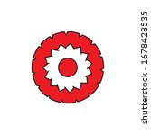 gear or poisonous flower icon. ...   Shutterstock .eps vector #1678428535