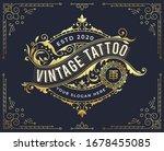 golden vintage badge logo... | Shutterstock .eps vector #1678455085