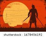 silhouette of japanese samurai... | Shutterstock .eps vector #1678456192