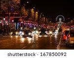 paris   nov 30  avenue des... | Shutterstock . vector #167850092