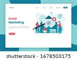 flat concept design email... | Shutterstock .eps vector #1678503175