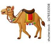 Cute Camel Cartoon With...