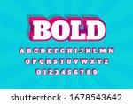 modern styled 3d trendy font... | Shutterstock .eps vector #1678543642