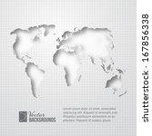 world map over orange glow.... | Shutterstock .eps vector #167856338