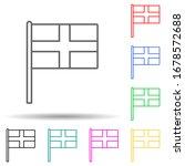england multi color set icon....