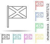 scotland multi color set icon....