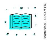 open book icon. simple thin...
