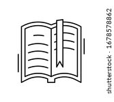 opened book icon. simple line ...
