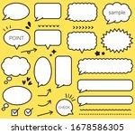 set of pop speech bubbles   Shutterstock .eps vector #1678586305