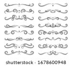 set of retro ornate vintage... | Shutterstock .eps vector #1678600948