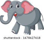 gray elephant on white... | Shutterstock .eps vector #1678627618