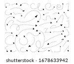 handdrawn black dotted line... | Shutterstock .eps vector #1678633942