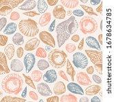 seashell colored vintage...   Shutterstock .eps vector #1678634785