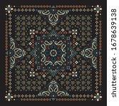 vector ornament paisley bandana ... | Shutterstock .eps vector #1678639138