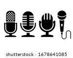 microphone vector icons set...   Shutterstock .eps vector #1678641085