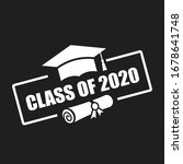 class of 2020 vector emblem... | Shutterstock .eps vector #1678641748