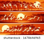 set of horizontal banners of... | Shutterstock .eps vector #1678646965