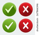 Vector Isolated Check Mark Icons