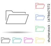 document folder multi color set ...