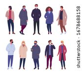 outerwear people collection.... | Shutterstock .eps vector #1678688158