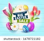 happy easter big easter sale... | Shutterstock .eps vector #1678721182