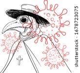 vector gothic illustration of... | Shutterstock .eps vector #1678723075