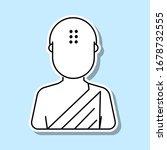 buddhist avatar sticker icon....