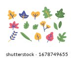 floral flower green plant flat... | Shutterstock .eps vector #1678749655