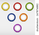 set of colored round empty... | Shutterstock .eps vector #167876882